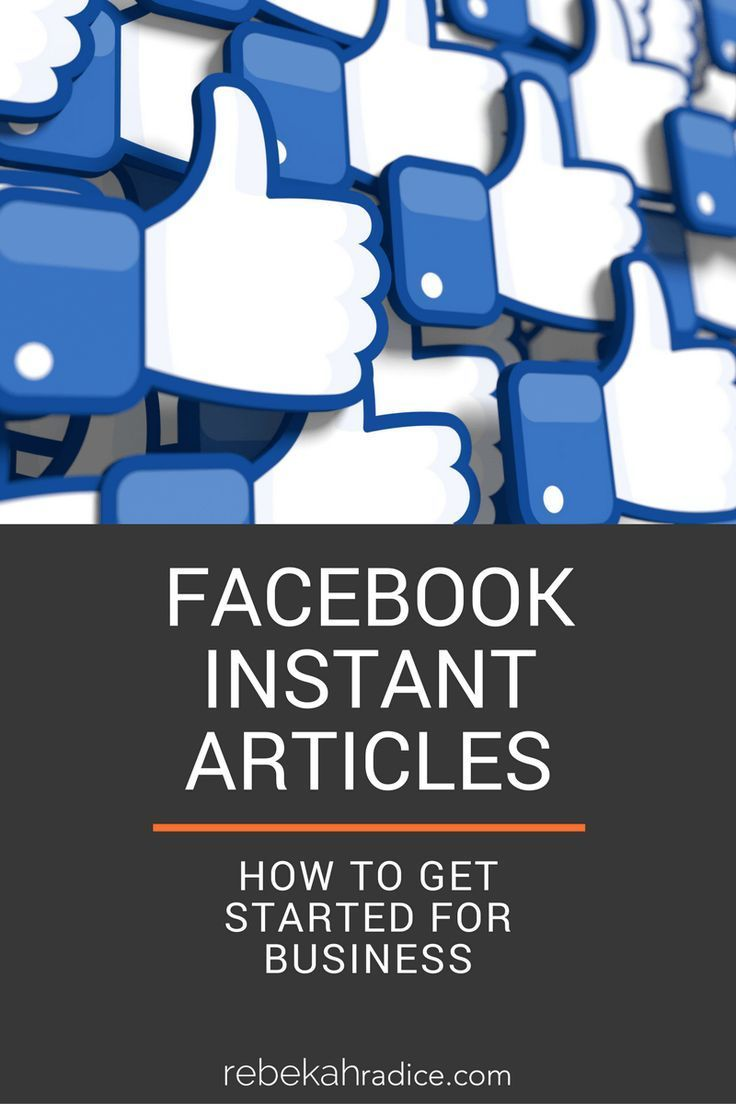 238 best facebook marketing images on pinterest facebook facebook instant articles how to get started for business malvernweather Choice Image