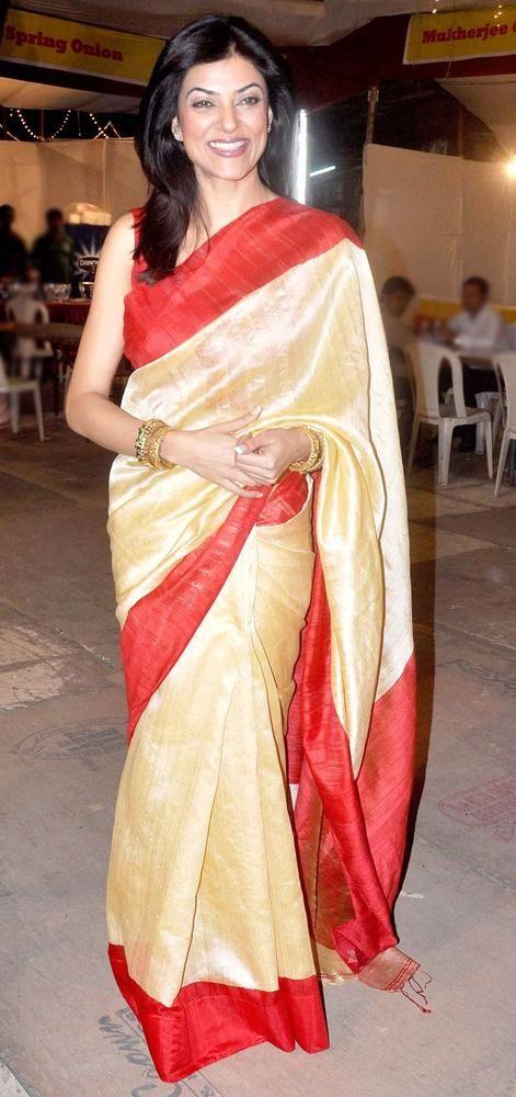 Sushmita Sen at a Durga Puja pandal. #Bollywood #Fashion #Style #Beauty