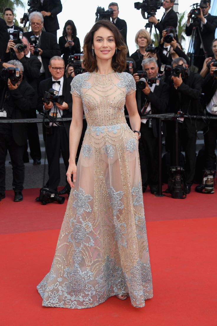 Olga Kurylenko in ELIE SAAB Ready-to-Wear Spring Summer 2017 at the 9th Annual Filmmakers Dinner during the 70th annual Cannes Film Festival.