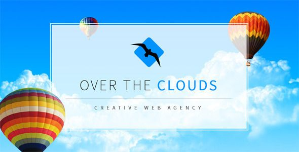 Over The Clouds One Page Muse Template (Creative)
