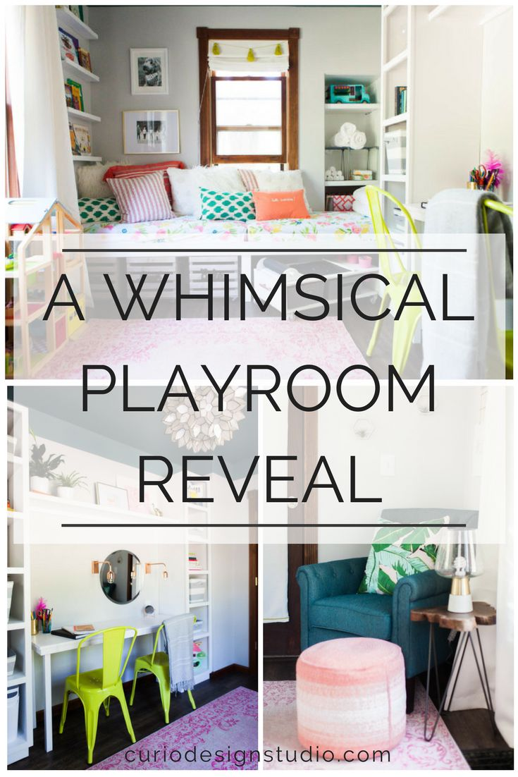 Whimsical Playroom Reveal from our 2017 Blueprint for Change, A community based makeover for a deserving family, with the main goal being to demonstrate how well designed spaces can positively impact the way we live  #playroom #kidsroom #interiordesignideas #homedecor #designforgood