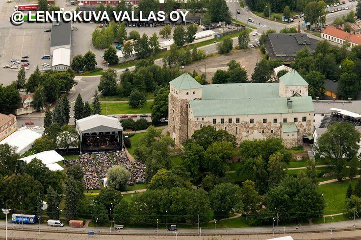 Turun linna ja linnapuisto, Karita Mattilan konsertti Ilmakuva: Lentokuva Vallas Oy