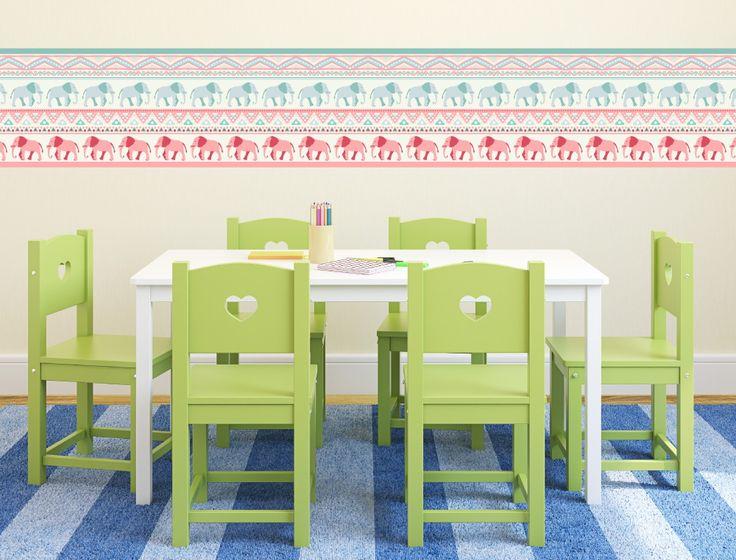 Die besten 25+ Bordüre kinderzimmer Ideen auf Pinterest Blaue - gestalten rosa kinderzimmer kleine prinzessin