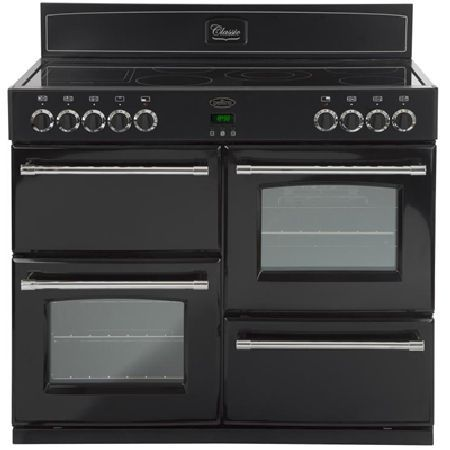 Belling CLASSIC 100E BLACK 1000mm Electric Range Cooker 6 Zone Ceramic Hob Black http://www.MightGet.com/january-2017-13/belling-classic-100e-black.asp