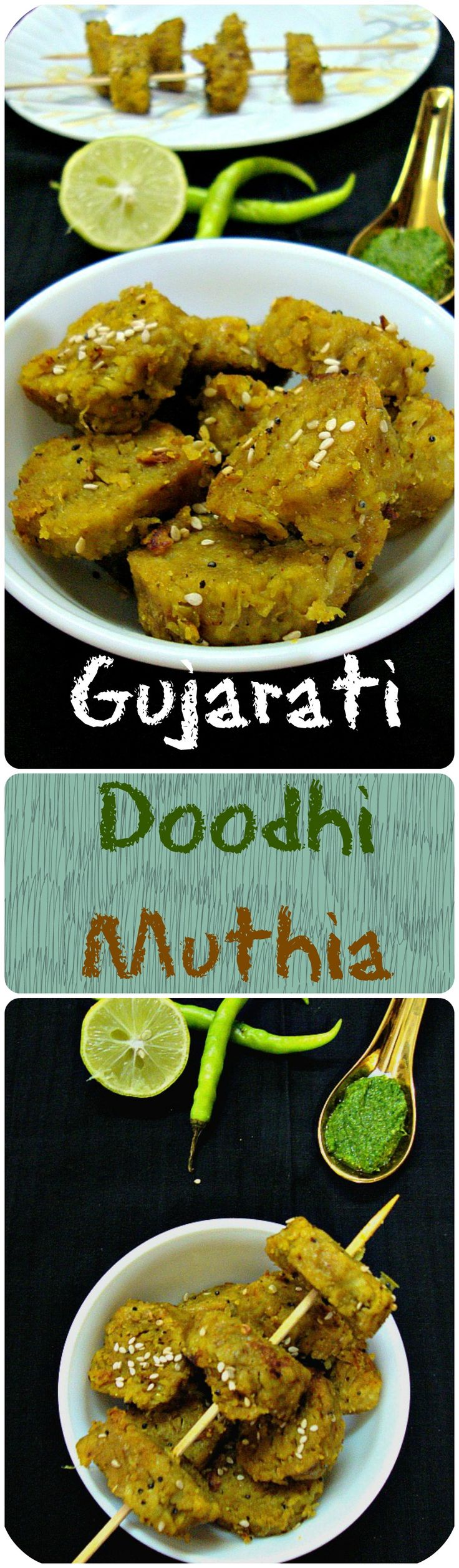 a healthy and delicious snack from gujarat which is made by combining wheat flour with grated bottle gourd and few spices. They are first steamed and then tempered with flavours of mustard seeds, sesame seeds and other spices.