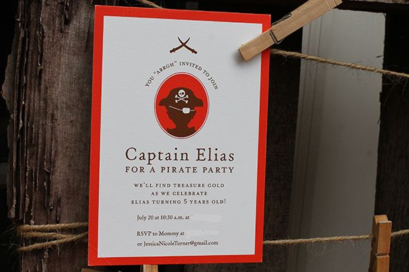 Pirate Party Invitation from @Minted