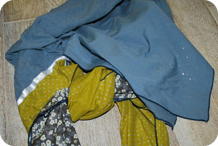foulard 4 carrés (foulard de Shanna)