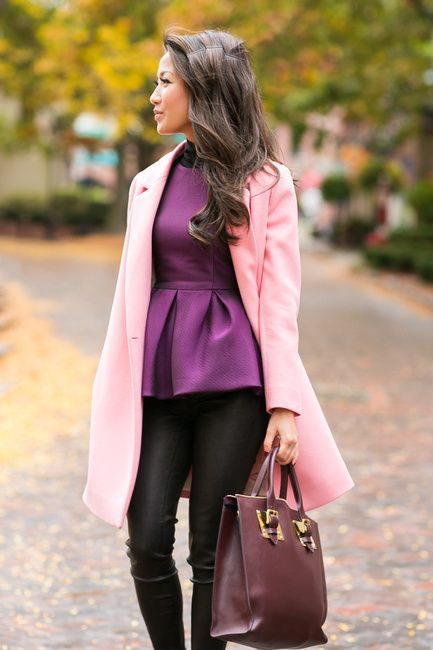 Color Love :: Rose car coat |   @Wendy Felts's Lookbook is by far one of my favorite fashion bloggers
