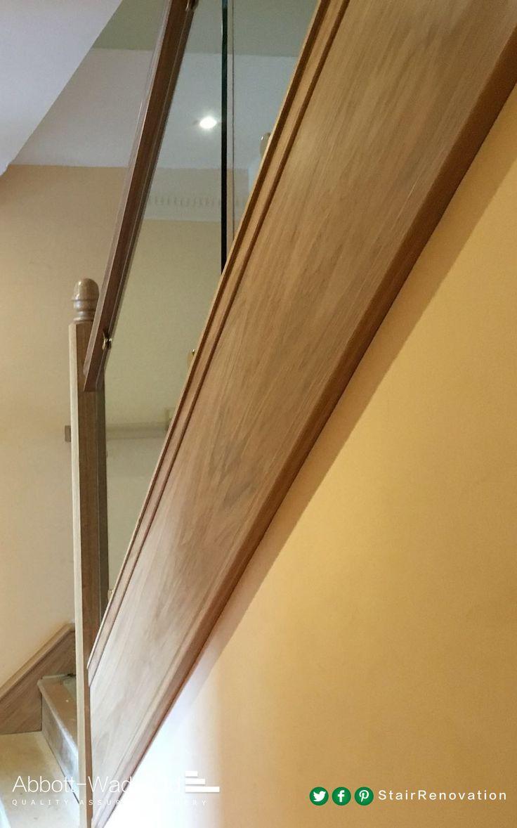 Oak U0026 Glass Staircase With Acorn Newel Caps
