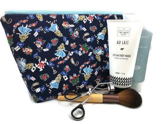 Extra Large Cosmetic Bag Toiletry Bag Travel Bag by NeedleandOak