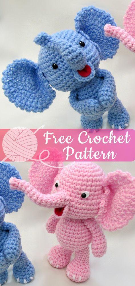 Little Bigfoot Elephant [CROCHET FREE PATTERNS] - All About Crochet
