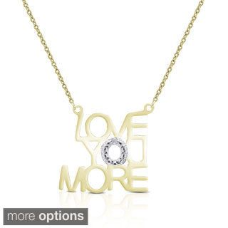 Finesque Sterling Silver Diamond Accent 'Love You More' Necklace | Overstock.com Shopping - The Best Deals on Diamond Necklaces