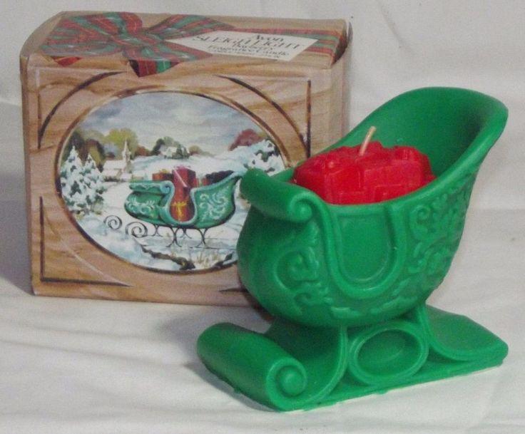 Vintage 70's Avon Sleigh Light Bayberry Fragrance Scented ...