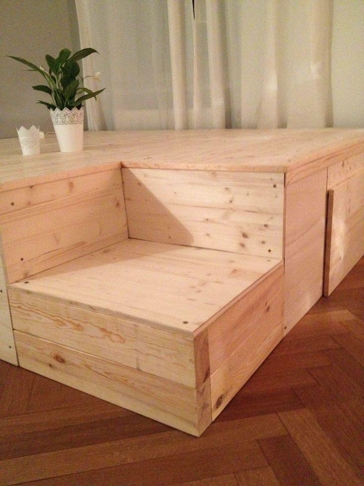 DIY Podest Bett Pinterest Podest, Bett und Podestbett