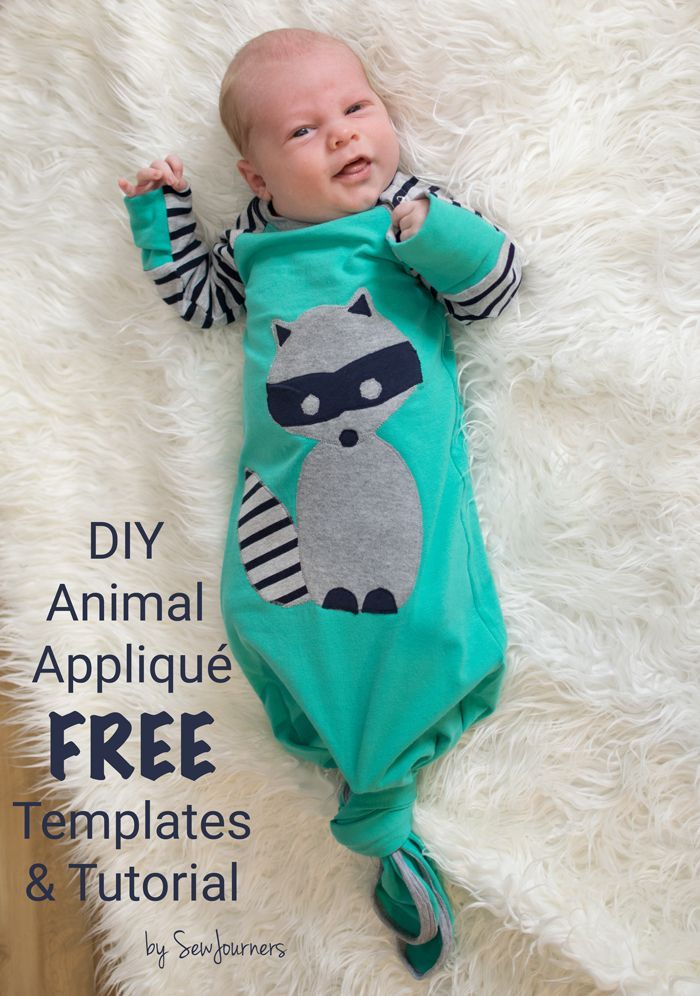 Free Templates to make animal face appliqués. Great for baby and toddler outfits.
