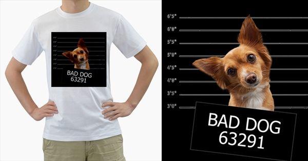 Bad Dog Men's T Shirt (white)  Men's T-Shirt (White)