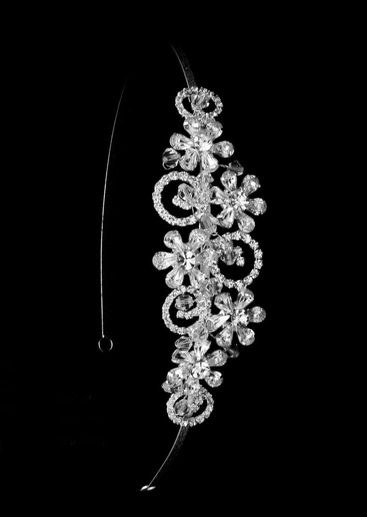 Floral Rhinestone and Crystal Wedding Headband--Affordable Elegance Bridal -