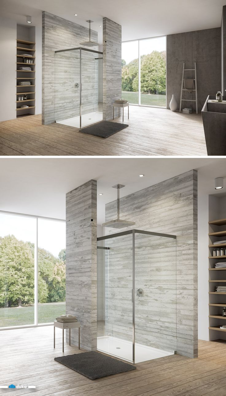 shower-enclosure shower bathroom modern-architecture design silkscreen-print