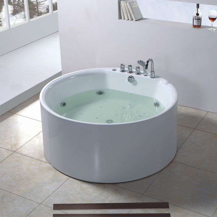 Marvelous Baths For Sale Cool Round White Walk In Baths Jacuzzi Bathtub On Broken  Tiles Theme Metal