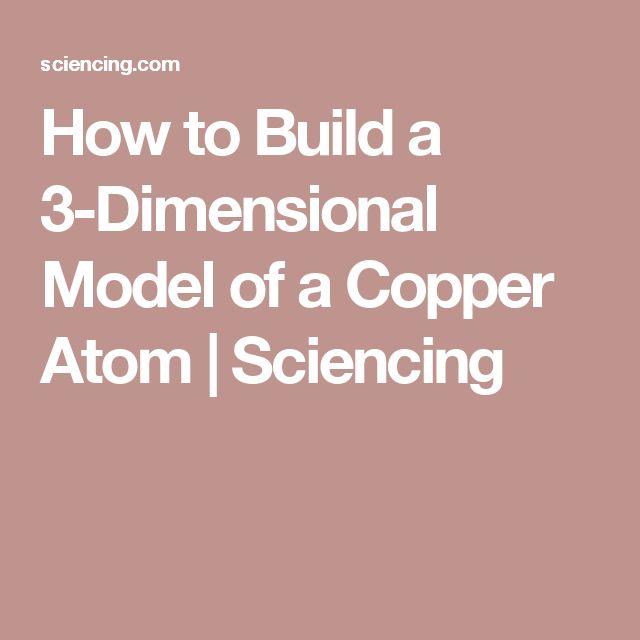 How to Build a 3-Dimensional Model of a Copper Atom   Sciencing