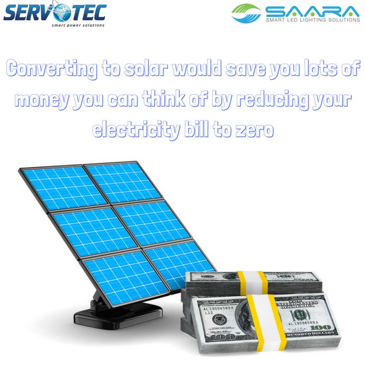 Converting to Servotech solar would save you lots of money you think of by reducing electricity bill to zero. #saveenergy #servotech #saaraled #electricitybill #cutelectirycitybill