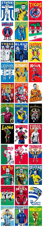 poster de las selecciones de brasil 2014