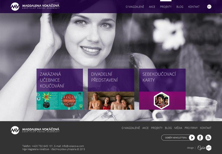 Práce na navyšování návštěvnosti webu http://vokacova.com. Osobní stránky známé koučky a herečky Magdaleny Vokáčové.