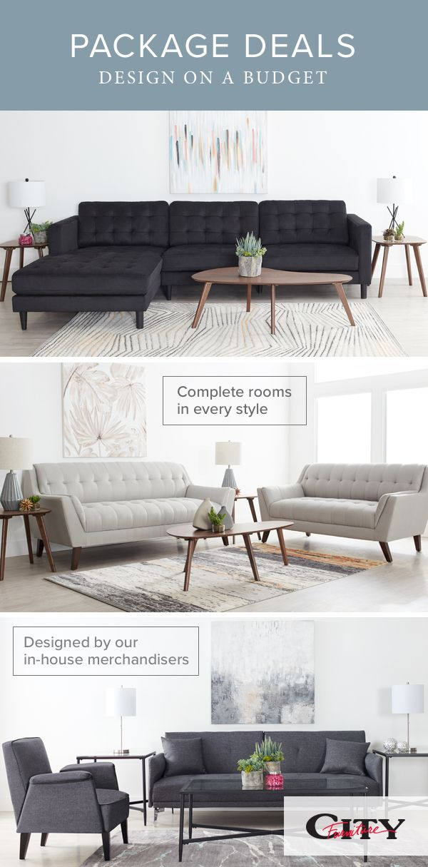 Furnish Your Living Room On A Budget With Our Package Deals These