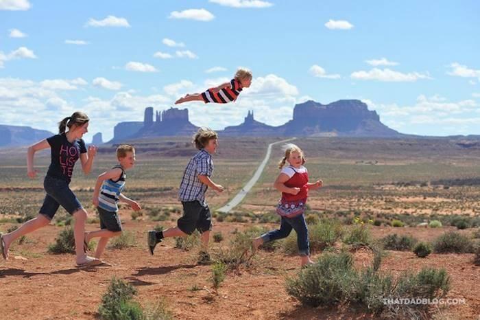 «Летающий» ребенок (18 фото)