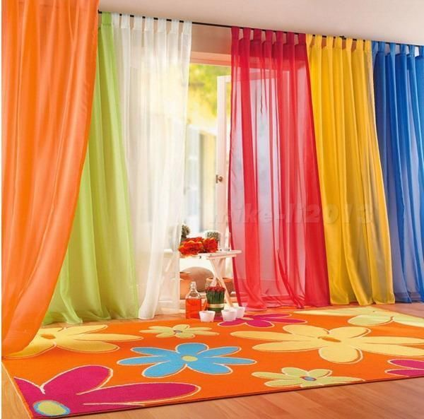 Valances Colors Floral Tulle Voile Door Window Curtain Drape Panel Sheer #Unbranded #Curtains