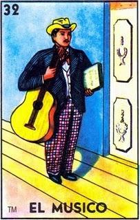 loteria, mexican, music, el musico