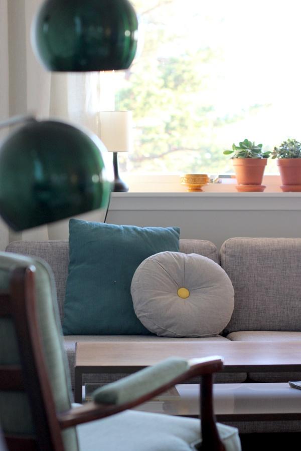 """Et Nytt Kapittel - retro """"bowl"""" lamp from my parents. Love it!"""