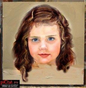 Tablouri pictate: Portret de fetita Portrete. Pictura portret la comanda, dupa fotografie