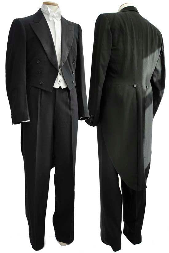 "Vintage 1930s Great Gatsby Evening Dress Tailcoat 42/44""(200)"