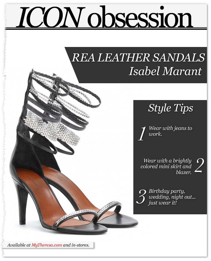 Icon Obsession: Isabel Marant Rea Leather Sandals available at @netaporter #fashion #shoes