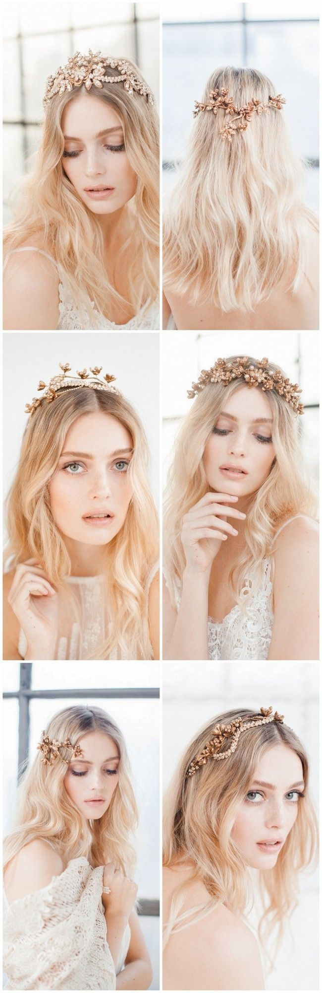 Boho, handcrafted, luxe and beautiful! Jannie Baltzer's Wild Nature Bridal Headpiece Collection 2016 is here. The headpieces appear almost like a beautiful conglomerate of nature findings, and the designer is always trying to create a lovely balance between the rustic and delicate. The headpieces are delicately hand painted with antique gold to complete the ornamental and dreamy feel. Pics Sandra Aberg photography http://www.confettidaydreams.com/jannie-baltzer-wild-nature-bridal-headpieces/