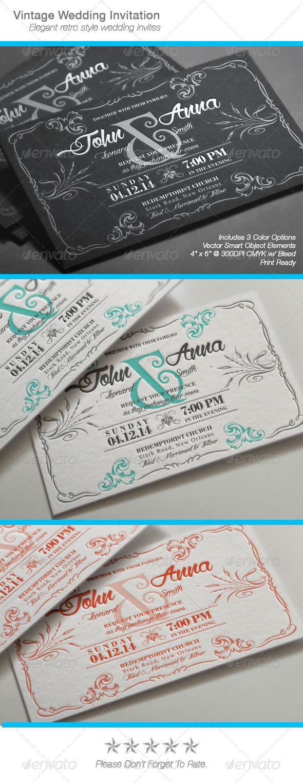 wedding invitation wording for hindu marriage%0A Vintage Wedding Invitation