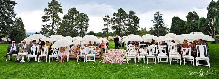 white umbrella wedding on beach - Google Search