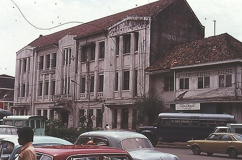 Indonesia, Batavia ( Jakarta).1977: the detoration of Dutch colonial buildings a color slide by Antoni P. Uni
