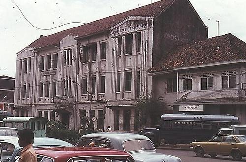 Indonesia, Batavia ( Jakarta).1977: the detoration of Dutch colonial buildings a color slide by Antoni P. Uni
