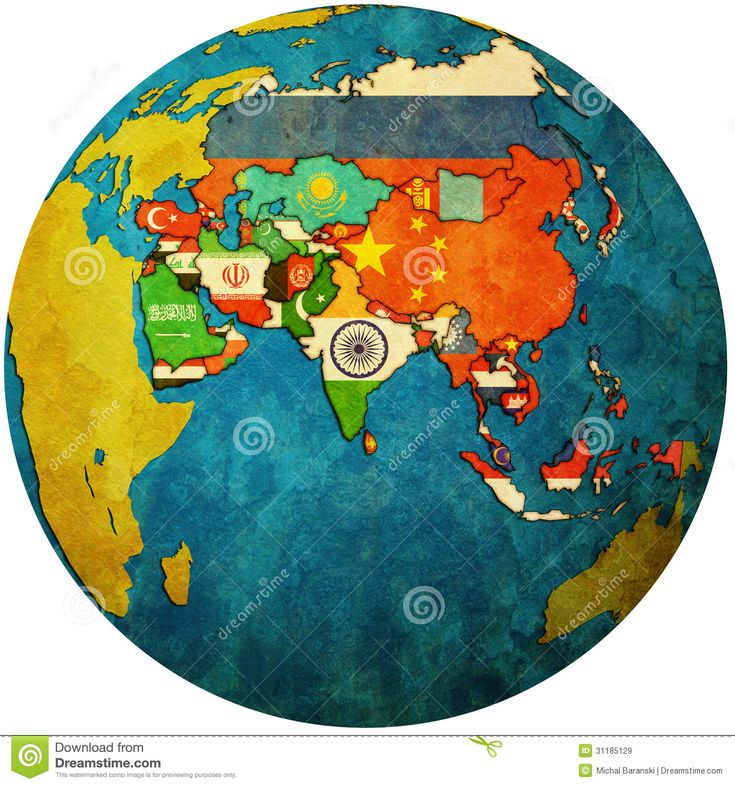 Political Map Of Asia On Globe Map Maps Pinterest Globe - Political map of asia