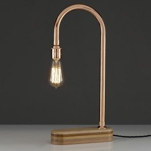 N-Light Copper Desk Lamp by Lumens and Wood | thegiftedfew.com | Vintage Industrial Lighting | Inspirational Design | Warehouse Home Design Magazine