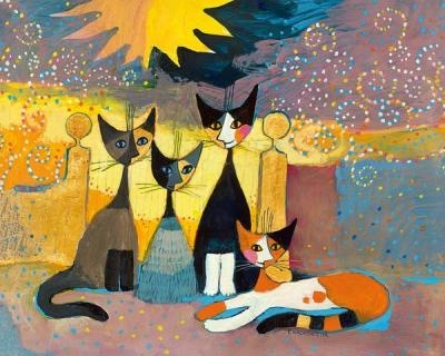 I love the images of Rosina Wachtmeister of cats!
