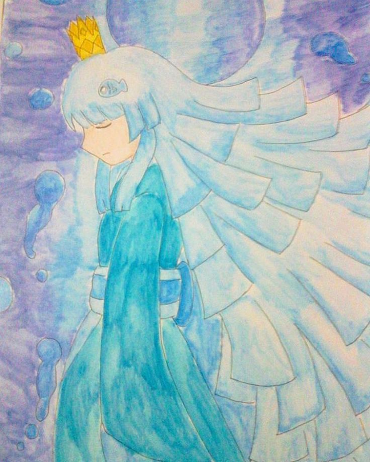 Uomi-hime. The Blue Sea Princess. Wadanohara and the Great Blue sea  #drawing #doodle #sketch #sketchart #watercolor #animeartshelp #animeart #anime #manga #fanart #wadanohara #rpg #instamood #instagram #instaart