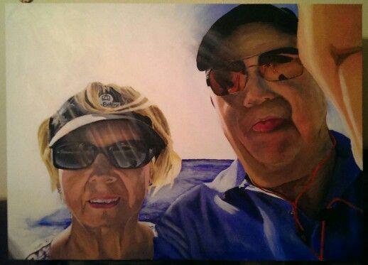 Maeve & Tony, Acrylic on canvass 900mm x 650mm