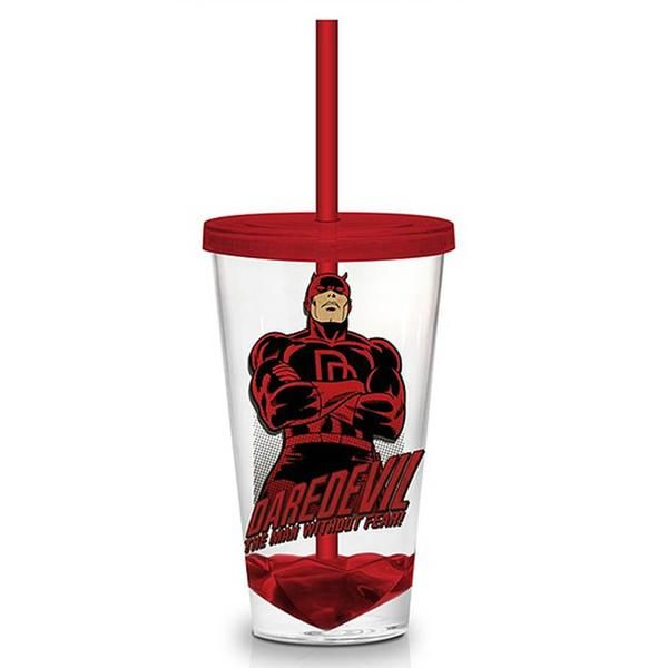 This is the Marvel Retro Daredevil 18 oz. Carnival Travel Cup. It's produced by…