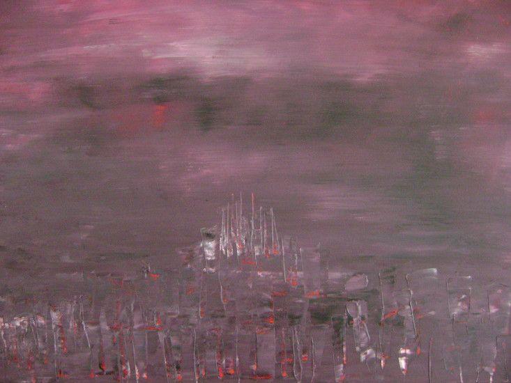 Door een onvervuld verlangen gedreven geschilderd totdat de kleur uitbeelde wat ik voelde..ik zoek