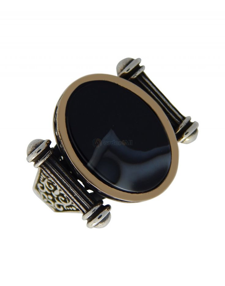 Ανδρικο Δαχτυλιδι σε Ασήμι  925 ⁰ με πέτρα  Onyx