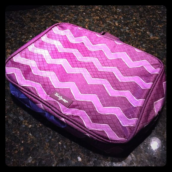Thirty One lunch bag Used only a few times 31 lunch bag light purple and dark purple zigzags Thirty One Bags Mini Bags