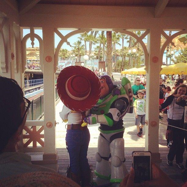 Buzz And Jessie At Disneyland